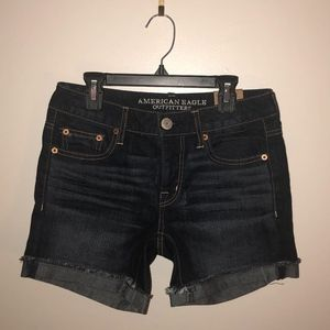 American Eagle Boy Midi Denim Shorts